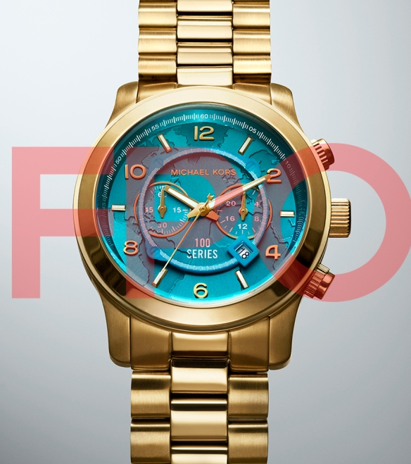 FPO- Michael Kors, World Food Programme Gold Large Watch- Photographer Dylan Griffin for BA REPS