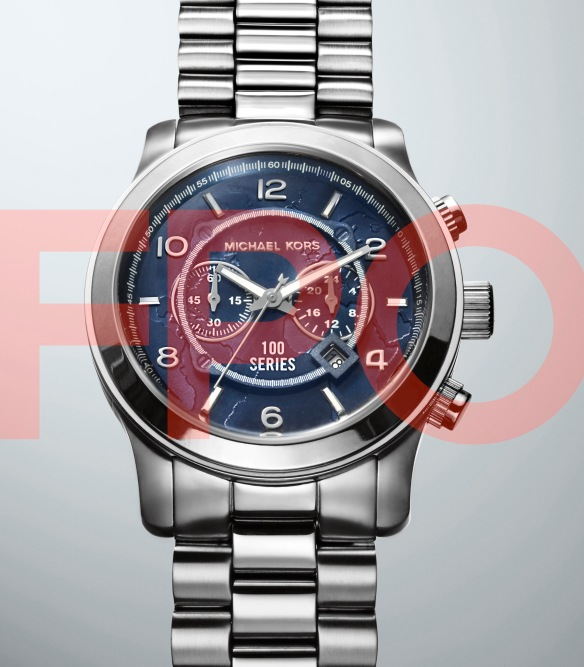 FPO- Michael Kors, World Food Programme Silver Large Watch- Photographer Dylan Griffin for BA REPS